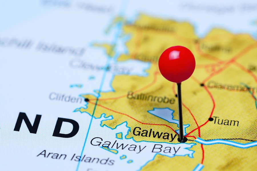 Map Of Ireland Galway.Galway Pinned On A Map Of Ireland Lakeview Hill